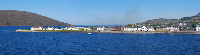 ullapool from boat pano