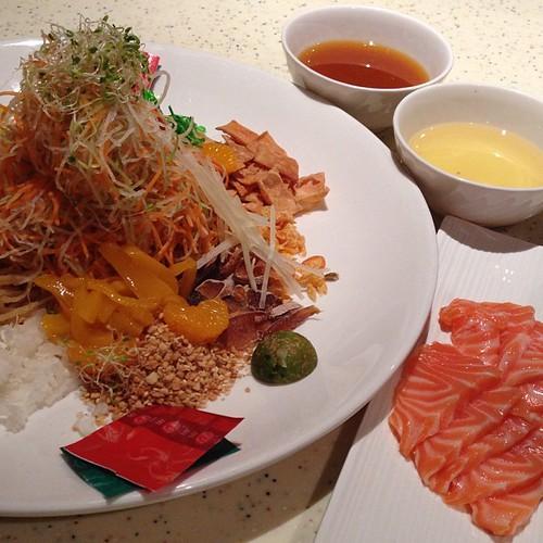 Salmon Yu Sheng #yum