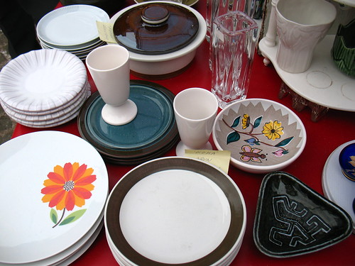Fleamarket at Hötorget, Stockholm: old plates.
