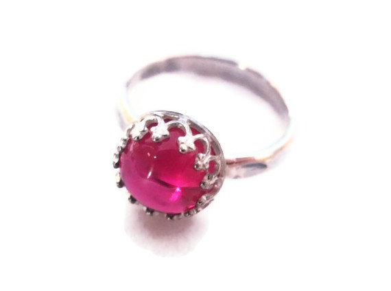 ruby ornate ring
