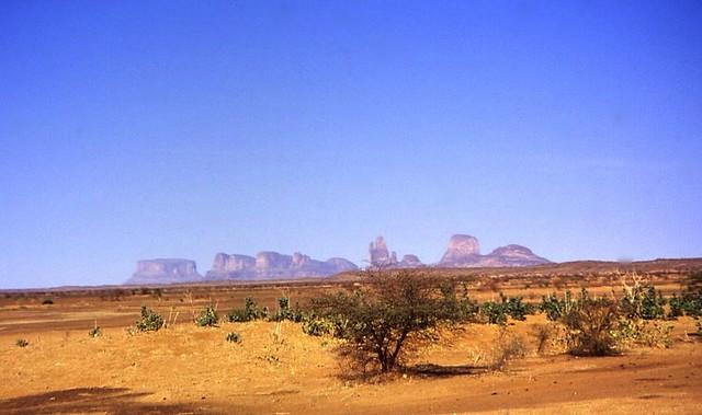 Monts Hombori au Mali, dans le désert du Gourma