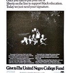 United Negro Fund ad, Scientific American, 1977