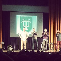 The cast of FX's The League performing on campus on Thursday 1/31#onlyattulane #onlyinneworleans #superbowlweek