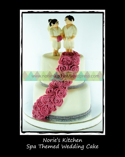 Norie's Kitchen - Spa Themed Wedding Cake by Norie's Kitchen