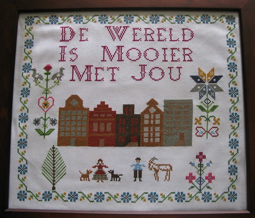 Folk Sampler Cross-Stitch, my version