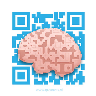 QR code art design: Brains