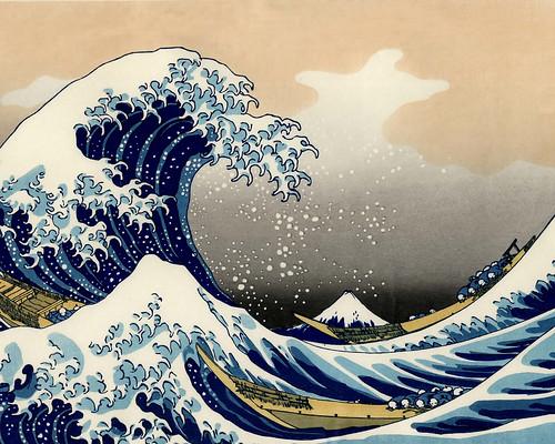 hokusai, l'onda
