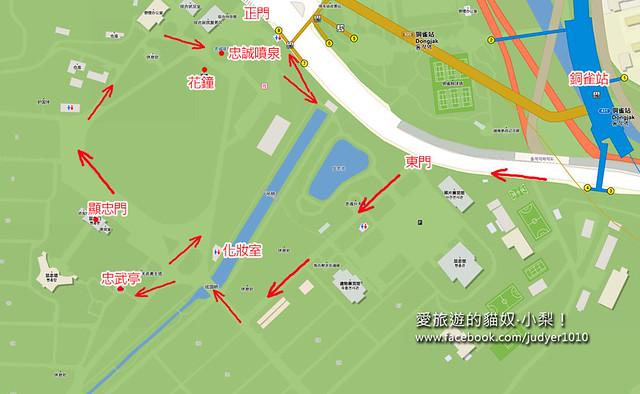 顯忠院地圖