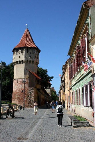 sibiu hermannstadt nagyszeben transylvania siebenbürgen erdély romania românia europe harteneck stradacetăţii street tower town