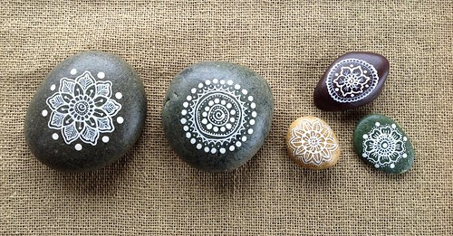 Mandala Painted Pebbles by MagaMerlina