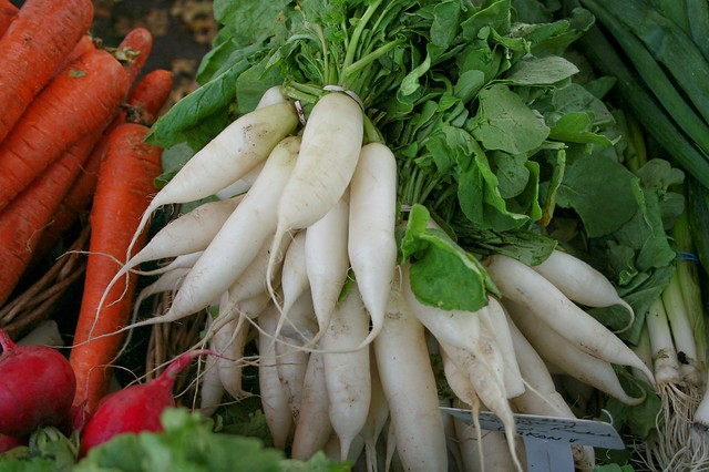 White Radishes at Matarazzo's Farmstand in North Caldwell