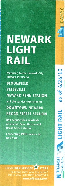 NJ Transit Newark LR 2010 Cover