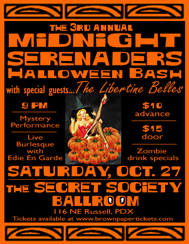 Midnight Serenaders Portland Halloween Bash