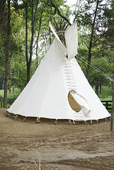 Equestrian Lakes - teepee in playground