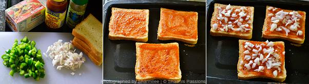 Bread Pizza Recipe - Step1