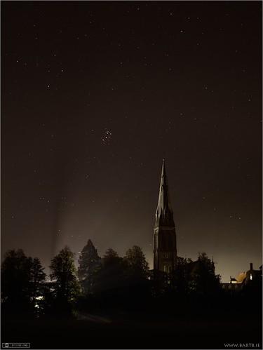 ireland history church night astrophotography opencluster maynooth constellation kildare localhistory historicbuilding deepsky spcm