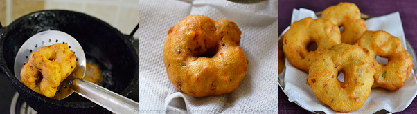 How to make medu vada - Step3