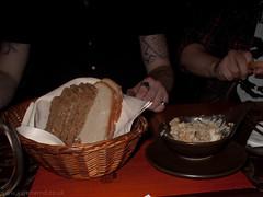 Bread and lard with crispy bits