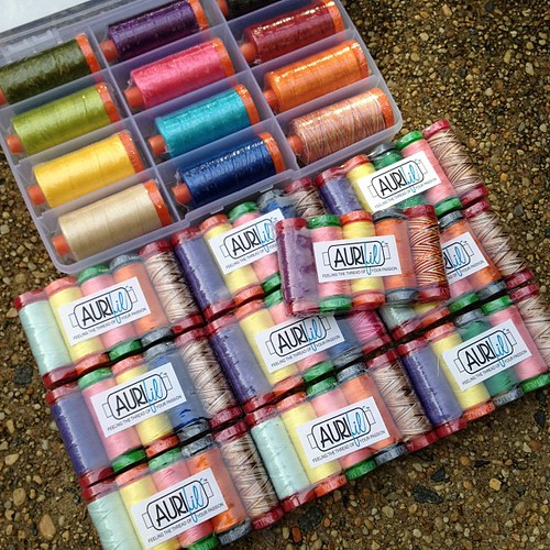 Thank you @aurifil !!! 3 people are going to be very happy. #100quilts4kids