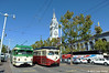 MUNI F-LINE CARS--1006 (E-Line, IB), 1007 at Ferry Plaza by milantram