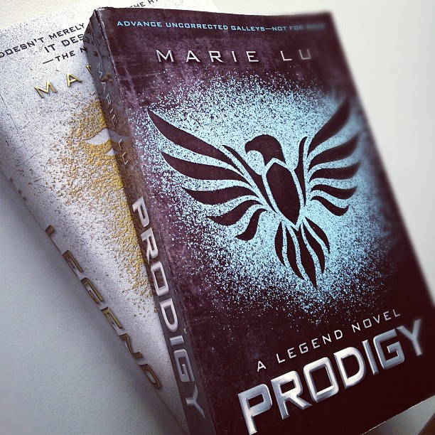 ooh, my first ever ARC just got delivered: Prodigy from Marie Lu (and an RC of its prequel). Dystopian scifi + Les Mis. Can't wait to read them!