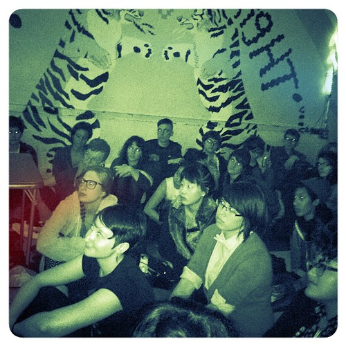 tint: Attendee's listen to Mimi at POCZP's Race Riot! tour finale at Death By Audio on Oct 7