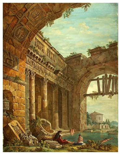 012-Fantasía arquitectónica- Charles-Louis Clérisseau- State Museum Hermitage