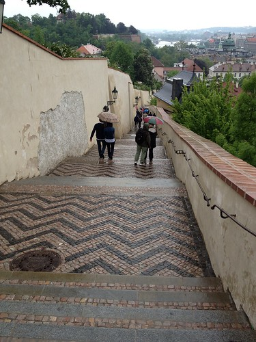 Prague down the steps