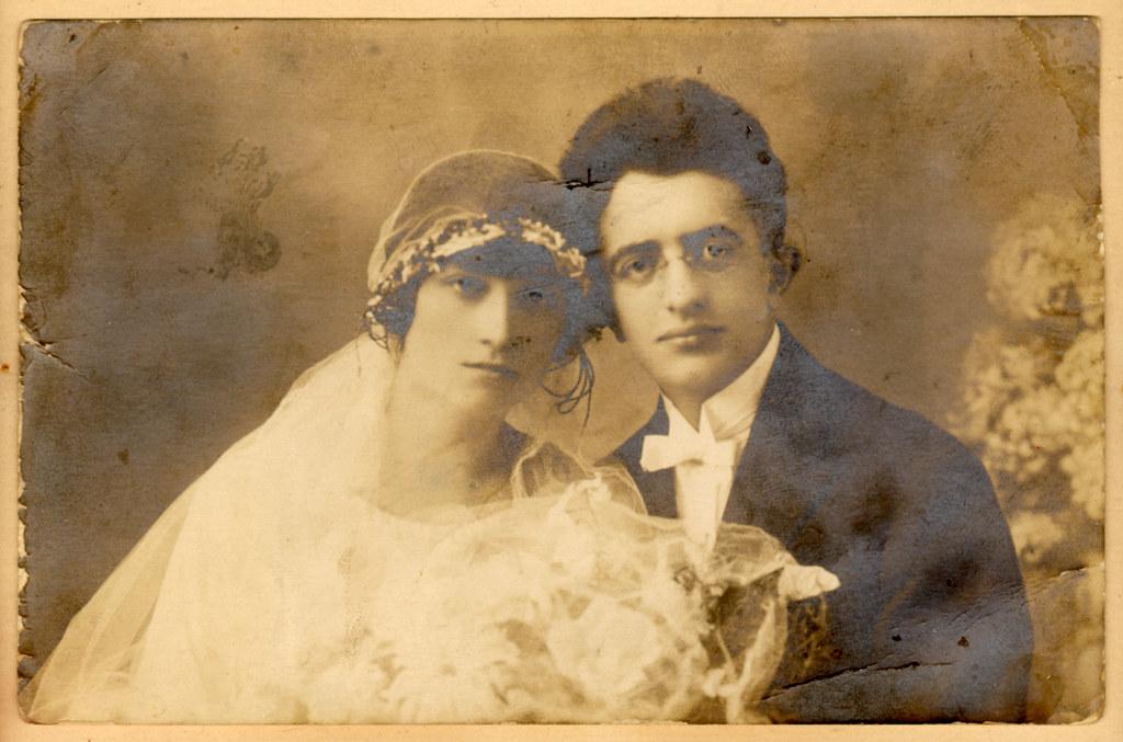 005---Wedding portrait Herman Lustig and Otilia Graumann Lustig