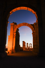 Darkness fall on the ruins of Palmyra, Syria by Scott Robertson, Montreal