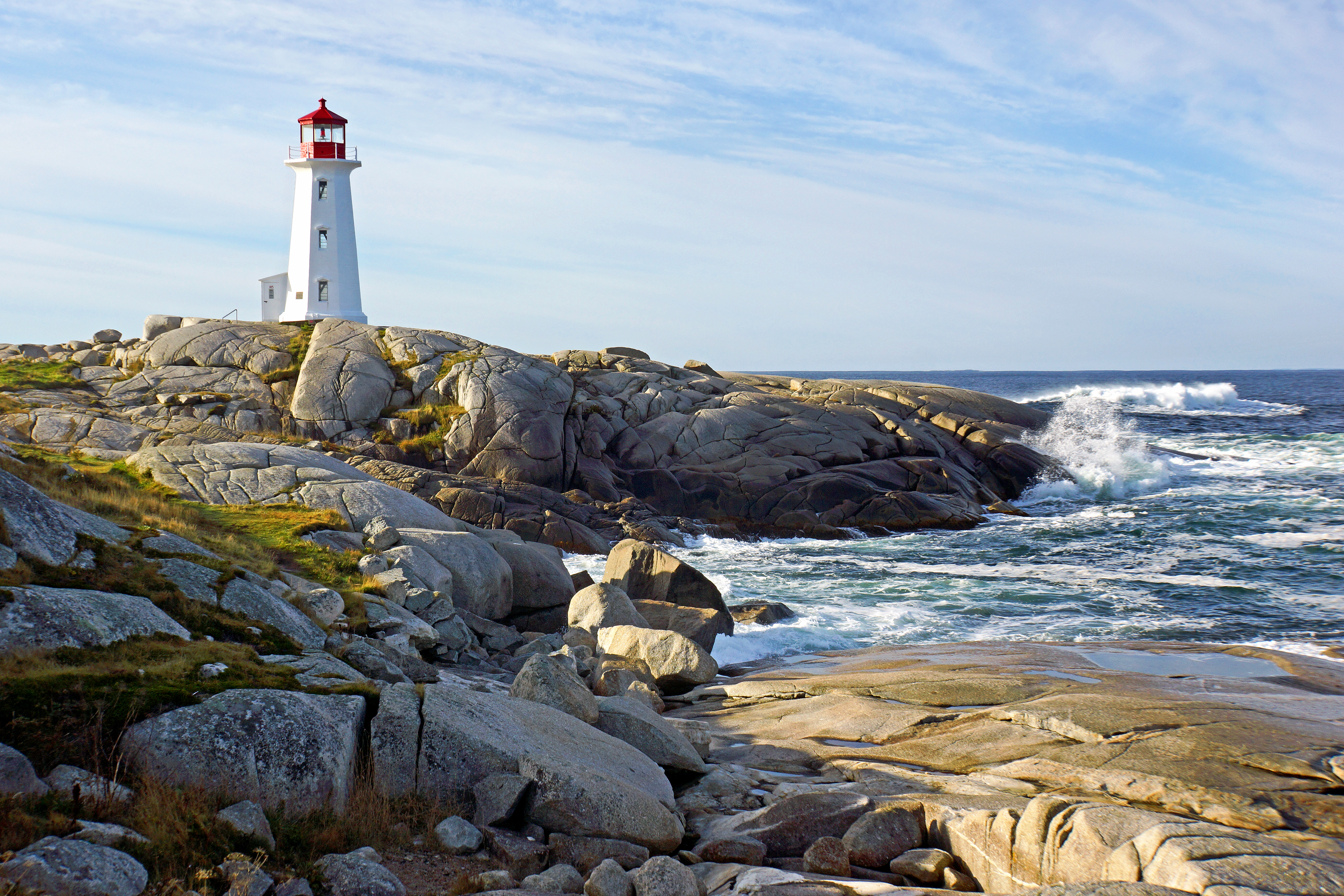 The lighthouse at Peggy's Cove is the most photographed lighthouse in the world