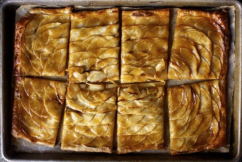 Smitten Kitchen's apple mosaic tart with salted caramel
