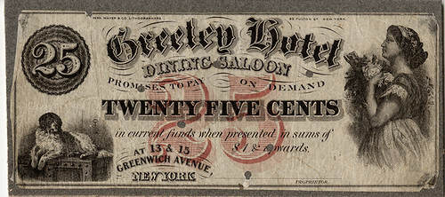 Greeley Hotel scrip note