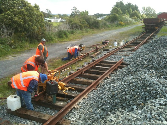 swapping out mainline rails