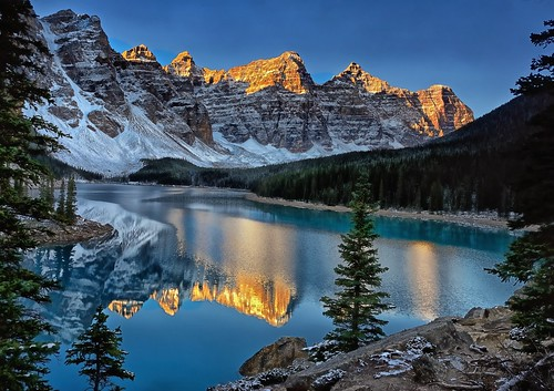 Morning Glow on The Ten Peaks