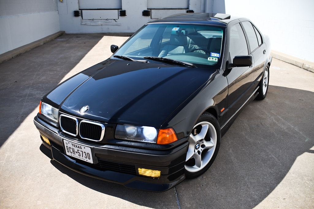 E36 1997 BMW 328i Sport Sedan BLK/GREY 5-speed manual ...