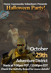 PlayStation Home: HCV Halloween Poster
