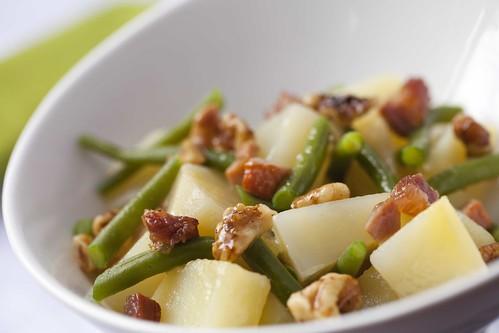 Ensalada tèbia de patates i mongetes 2