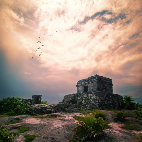 [フリー画像素材] 建築物・町並み, 宗教施設, 遺跡, 風景 - メキシコ ID:201210272000
