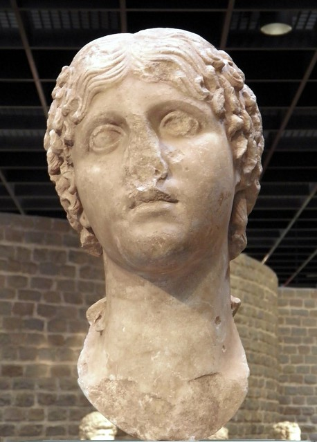 Portrait of Vipsania Aggripina (Agrippina the Elder), mother of Cologne's founder Julia Aggripina (Agrippina the Younger), 1st century AD, Romisch-Germanisches Museum, Cologne