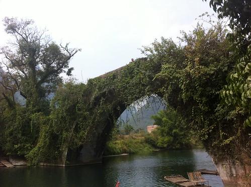 Old bridge in the Yangshuo countryside