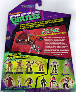 Nickelodeon  TEENAGE MUTANT NINJA TURTLES :: FISHFACE ..card backer (( 2012 ))