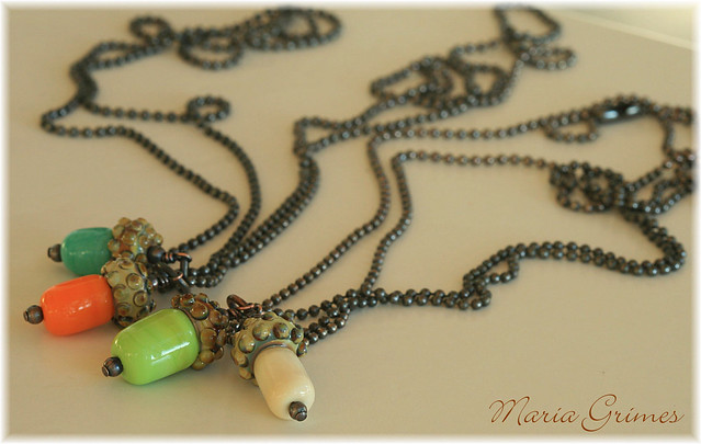 Lampwork Acorn Necklaces (DOTM)