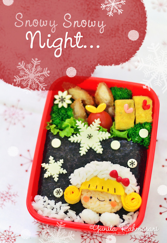 Christmas Snowy Night Bento