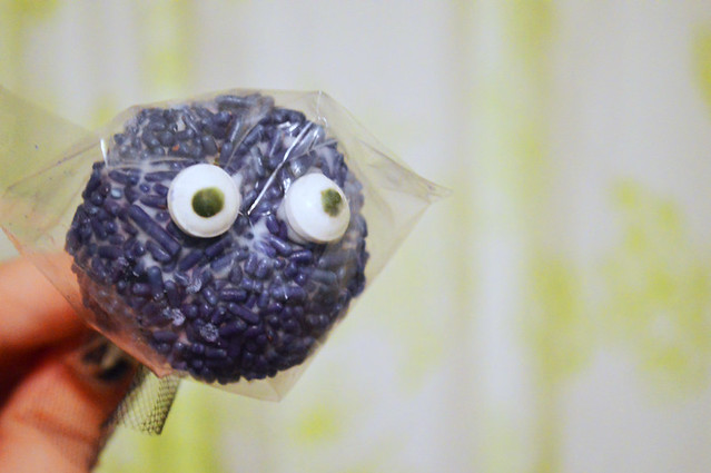 Purple Monster Cake Pop