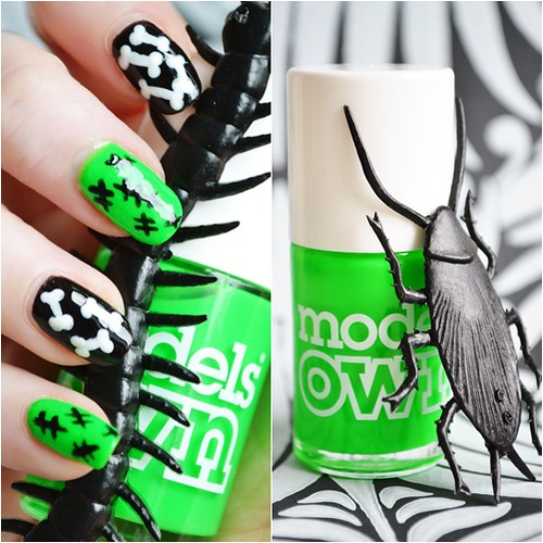 easy halloween nail art tutorial