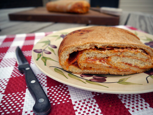 Pepperoni Pizza Bread for the Virtual Vegan Potluck (0032)