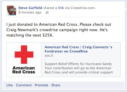 Red Cross on Facebook
