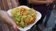 meal(0.0), produce(0.0), guacamole(0.0), breakfast(1.0), fried food(1.0), vegetarian food(1.0), dip(1.0), food(1.0), dish(1.0), cuisine(1.0),