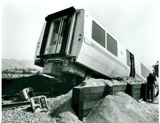 Derailed BART train (1972)